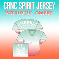 CRNC Spirit Jersey in Patriotic Ombre [Memorial Day Sale] | College Republican Store - College Republican National Committee