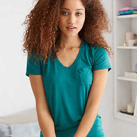 Aerie Real Soft® Stretch Pocket Tee, Emerald