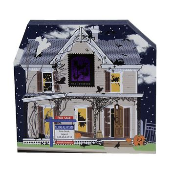 Cats Meow Haunted House For Sale Agent 2020 Ghost Bats Spiders - 20632