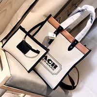 COACH 2020 New Women Shopping Bag Handbag Shoulder Bag Two Piece Set