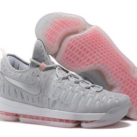Nike Mens Kevin Durant 9 Wolf Gray Basketball Shoe US7-12