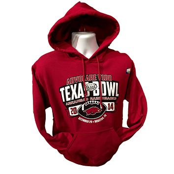 SALE Arkansas Razorbacks Hogs 2014 Texas Bowl Game Unisex Pullover Hoodies