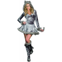 Dreamgirl Womens Big Bad Wolf Halloween Party Dress Costume
