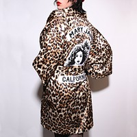 Leopard Mary Jane Gang Smoking Robe