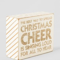 Glitter Christmas Cheer Box Sign