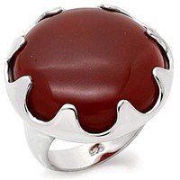 Sterling Silver Band Rings LOS085 - 925 Sterling Silver Ring in Ruby