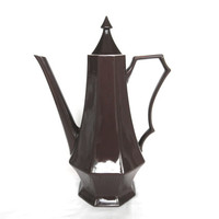 Vintage Ironstone Chocolate Pot Coffee or Teapots Vintage Inspired Home Decor Shabby Chic Home Decor Cottage Charm Mocha Brown Decor