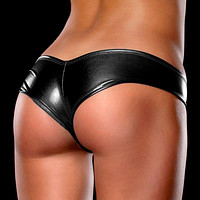 Multicolor Leather Fashion Underpant Brief Panty