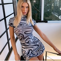 Whirlpool psychedelic print dress