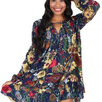Stand In The Rain Dress in Navy   Monday Dress Boutique