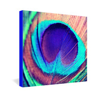Shannon Clark Pretty Peacock Gallery Wrapped Canvas
