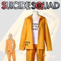 Batman Arkham Asylum City Suicide Squad Harley Quinn Prison jumpsuits Costume Halloween costume for women prison uniform