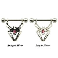 Spider Nipple Barbell Ring Piercing Shield Jewelry