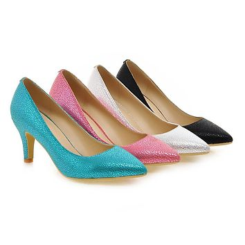 Womens High Heel Shoes Sexy Lady Pumps Party Dress Shoes