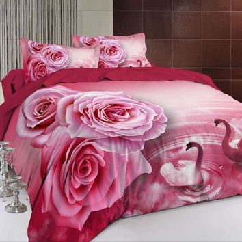 BEST.WENSD luxury 3d Wedding decorative fashion Modern style bedding set Princess Bed Jacquard quilt cover+BedSheet+pillowcase