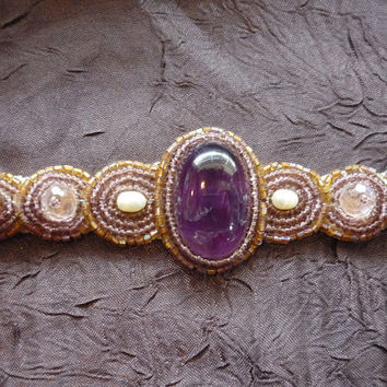 Amethyst Goddess Headband Sacred Stone Chakra Activation