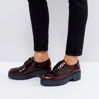 Monki Ombre Patent Brogue at asos.com