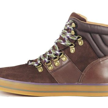 JD Fisk for Men: Osborn Chocolate Suede Sneaker
