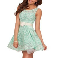Lace Overlay Fit Flare Party Stunning Mini Cocktail Tulle Tutu Sleeveless Dress