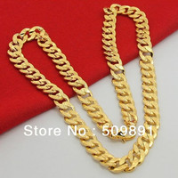 Jewelry Mens Necklace Gold Chain 24k  (9.5mm Width)