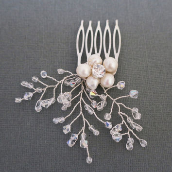 Wedding Hair Flowers, Crystal Hair Accessories, Hair Combs for Wedding