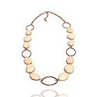 Retro Long Oval Beaded Necklace