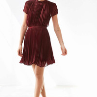 Keepsake Come Back Pleated Mock-Neck Mini Dress - Urban Outfitters