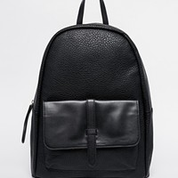 Pieces Backpack with Front Pocket and Strap Detail