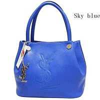 YSL Yves Saint Laurent female delicate hipster leather handbag shoulder bag F-MYJSY-BB Sky blue
