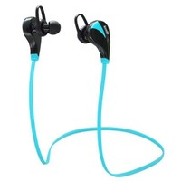 LEMFO Wireless Bluetooth Earphones Stereo Sweatproof for Sports Running Gym Compatible with Andorid IOS Mobile Phones (Blue)