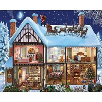 White Mountain Puzzles Christmas House Jigsaw Puzzle - Puzzle Haven