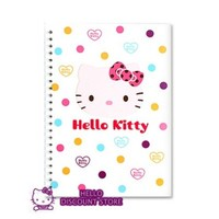 Hello Kitty Spiral Notebook : Pink Face $6.99