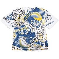 University of Michigan Allover Graffiti Magic Johnson T's T-Shirt White (Medium)