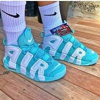 Nike Air More Uptempo men and women Gym shoes-3