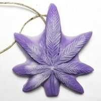 Maui Wowie Dope on a Rope - Lavender & Orange Pot Leaf shaped Soap on a Rope - OUT OF STOCK UNTIL 2019