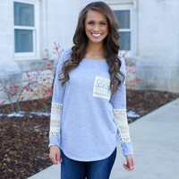 Long Sleeve Patchwork Tops T-shirts [6338702724]