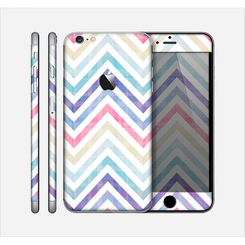 The Subtle Vintage Multi-Colored Chevron Pattern Skin for the Apple iPhone 6 Plus