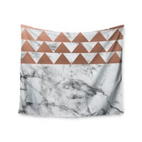 "KESS Original ""Marble & Metal"" White Copper Wall Tapestry"