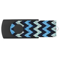 Blue Zigzag - USB Flash Drive Swivel USB 3.0 Flash Drive