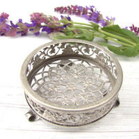Vintage Metal Jewelry Box Vintage Home Decor Jewelry Storage Gift Box Wedding Ring Box