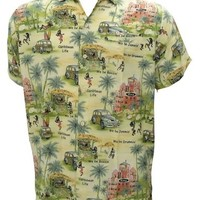La Leela Hawaiian Printed Beach Aloha Shirt For Men XL