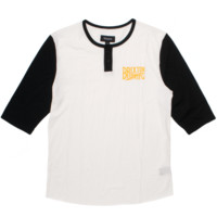 BRIXTON LOWE THREE QUARTER SLEEVE JERSEY IN WHITE - SWEATSHIRTS & TEES - DEPARTMENTS Federal