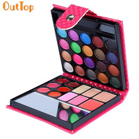 OutTop ColorWomen 32 Color Cosmetic Matte Eyeshadow Cream Eye Shadow Makeup Palette Shimmer Set with Mirror 160818