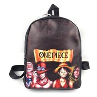 Cool Backpack school Cool Young Women Men School Bags Anime Designer Nylon Backpack Cartoon Pirate One Piece Backpack Satchel For Teenager Daily Bag AT_52_3