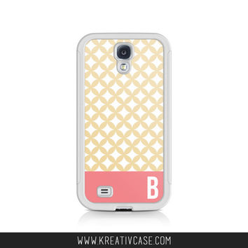 Monogrammed Galaxy S4 Case, Galaxy S5 Case,Samsung S4 Case, Galaxy S5 Case, Girly, Geocircles  Phone Case, Personalized Phone Cover - K304