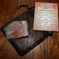 Genuine FIRE QUARTZ - Genuine Rough Fire Quartz - 1+ Inch Gemstones - Overcome Depression, Transforms Negative Energy Into Positive Energy
