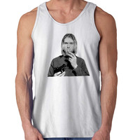 Kurt Cobain Nirvana Seattle Grunge Rock For Mens Tank Top Fast Shipping For USA special christmas ***