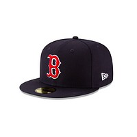 New Era Boston Red Sox Grey Bottom 59Fifty Fitted Cap