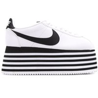 Ladies Black and White Comme Des Garçons Cortez by Nike