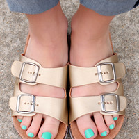 Downtown NYC Sandal - Gold